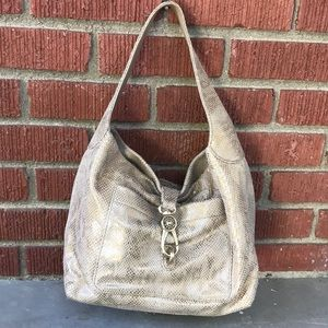 Dooney & Bourke Belvedere Snake Skin Embossed Hobo